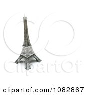 3d Eiffel Tower Statue With Copyspace To The Right