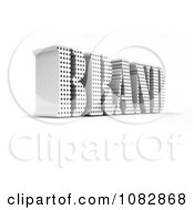 3d White Brand Word With Holes