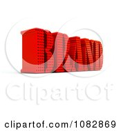 3d Red Brand Word With Holes