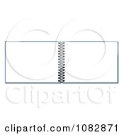 Clipart 3d Open Blank Spiral Notebook Royalty Free Illustration