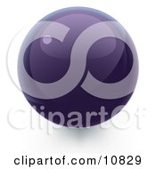 Clipart Illustration Of A Purple 3D Sphere Internet Button by Leo Blanchette