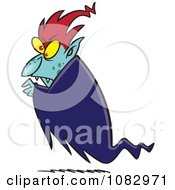 Clipart Floating Vampire Royalty Free Vector Illustration by toonaday