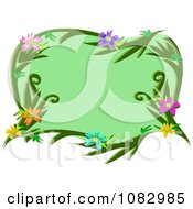Floral Frame With Green Copyspace