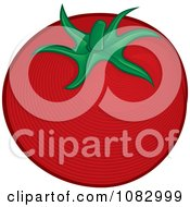 Woodcut Styled Red Tomato