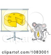 Gray Mouse Giving A Presentation On Cheese