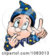Clipart Wizard With An Idea Royalty Free Vector Illustration by dero