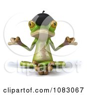 Clipart 3d French Springer Frog Meditating In The Lotus Pose Royalty Free CGI Illustration