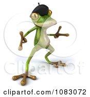 Clipart 3d French Springer Frog Dancing 4 Royalty Free CGI Illustration