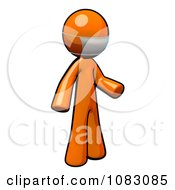 Poster, Art Print Of 3d Orange Man Doctor Wearing A Mask