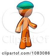 Poster, Art Print Of 3d Orange Man Doctor Wearing A Bouffant Cap