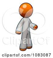 Poster, Art Print Of 3d Orange Man Doctor Wearing Coveralls