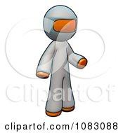 Poster, Art Print Of 3d Orange Man Doctor Wearing Complete Coveralls