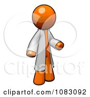 Poster, Art Print Of 3d Orange Man Doctor Wearing A Jacket