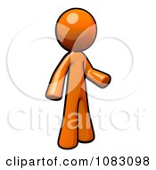 Poster, Art Print Of 3d Orange Man Gesturing