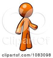 Clipart 3d Orange Man Gesturing Royalty Free CGI Illustration