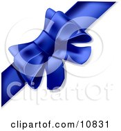 Gift Present Wrapped With A Ribbon Tied Into A Bow Clipart Illustration