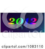 Clipart Colorful Happy New Year 2012 On A Gradient Royalty Free Illustration