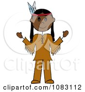 Clipart Thanksgiving Stick Native American Man Royalty Free Vector Illustration by Pams Clipart