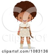 Clipart Cute Black Girl Smiling Royalty Free Vector Illustration by Melisende Vector