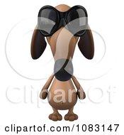 Clipart 3d Dachshund Dog Wearing Sunglasses Royalty Free CGI Illustration