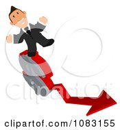 Clipart Business Toon Guy With A Dollar Symbol Arrow Chart 3 Royalty Free Illustration