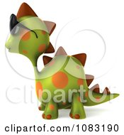 Clipart 3d Spotted Dino Wearing Sunglasses And Facing Left 1 Royalty Free CGI Illustration