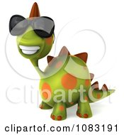 Clipart 3d Spotted Dino Wearing Sunglasses And Facing Left 2 Royalty Free CGI Illustration