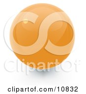 Clipart Illustration Of A Yellow 3D Sphere Internet Button by Leo Blanchette