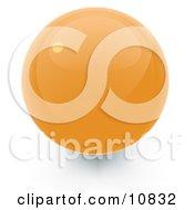Yellow 3d Sphere Internet Button