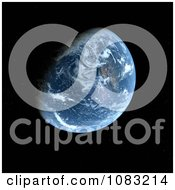 3d Planet Earth Against Black Space
