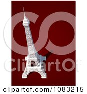 3d White Eiffel Tower On Red