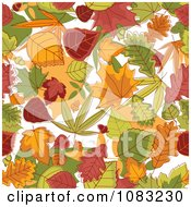Clipart Background Of Autumn Leaves Royalty Free Vector Illustration by Vector Tradition SM