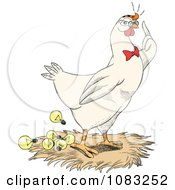 Chicken Popping Out Lightbulb Ideas In A Nest