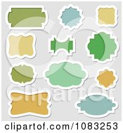 Clipart Green Blue And Orange Frames Or Labels Royalty Free Vector Illustration by vectorace