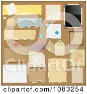 Clipart Scrapbooking Design Elements On Brown Royalty Free Vector Illustration