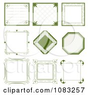 Clipart Green Vintage Frames Royalty Free Vector Illustration by vectorace