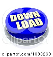3d Blue Download Button