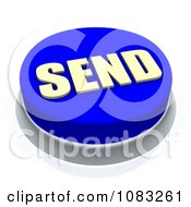 3d Blue Send Button