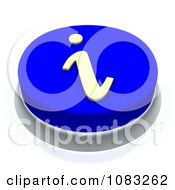 3d Blue I Information Button