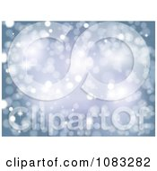 Clipart Sparkly Blue Lights Background Royalty Free Vector Illustration