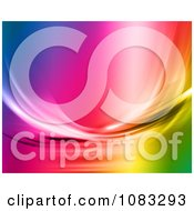 Clipart Rainbow Fluid Background Royalty Free Illustration