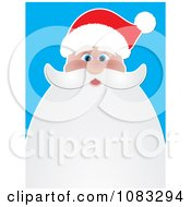 Clipart Santa Background With Beard Copyspace Royalty Free Vector Illustration