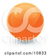 Clipart Illustration Of An Orange 3D Sphere Internet Button by Leo Blanchette