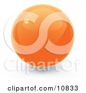 Orange 3d Sphere Internet Button