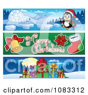 Clipart Merry Christmas Banners 2 Royalty Free Vector Illustration