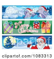 Clipart Merry Christmas Banners 3 Royalty Free Vector Illustration