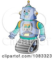 Clipart Futuristic Robot Royalty Free Vector Illustration by visekart