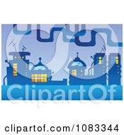 Clipart Futuristic Urban City Royalty Free Vector Illustration