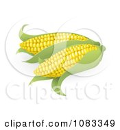 Clipart 3d Ears Of Sweet Corn Royalty Free Vector Illustration