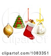 Clipart 3d Christmas Baubles And Ornaments Spelling SALE Royalty Free Vector Illustration